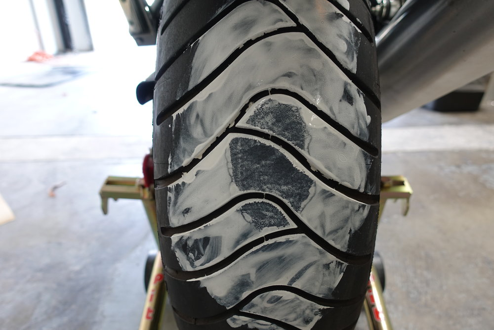 Figure 5 – Paint on Tire After Lowering it Onto the Paper