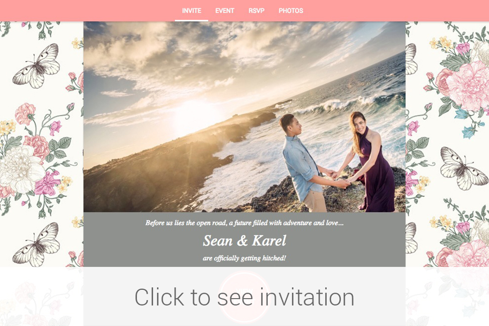 Invitation preview- Sean and Karel