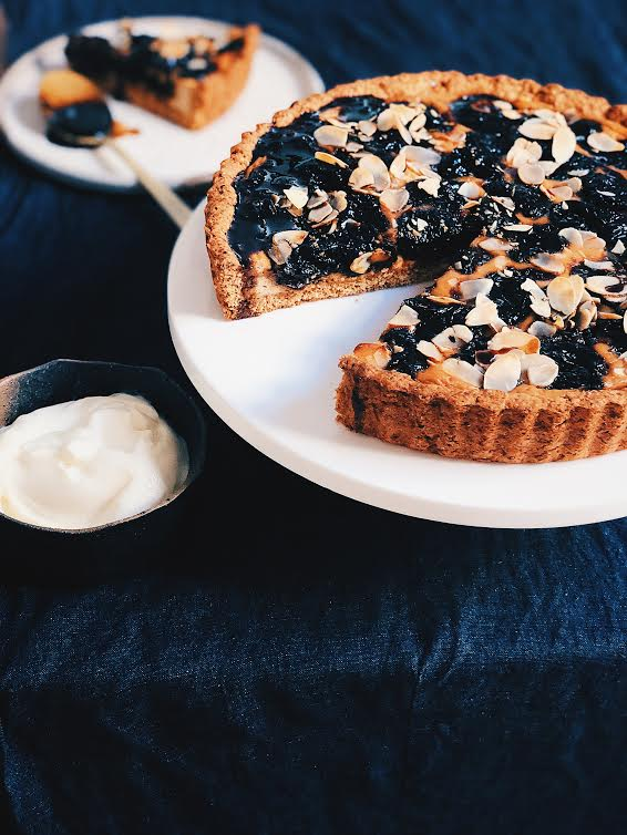 Drawing on my passion for Italian flavours, this tart delivers with sticky sweetness and lovely textures. Coconut sugar and spelt flour combine together to make this tart refined sugar free and richer in fibre due to spelt flour being far less processed than regular white flour.
