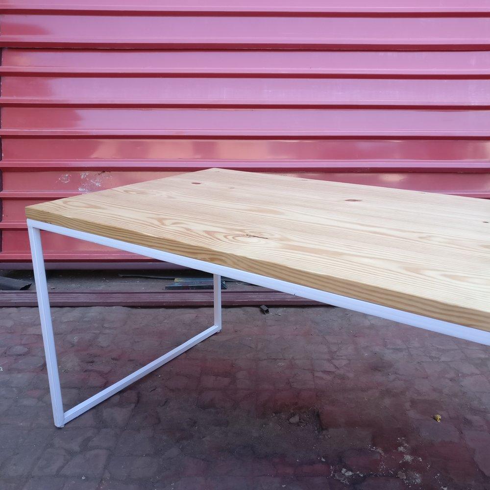 Custom-made - Pinewood - White frame