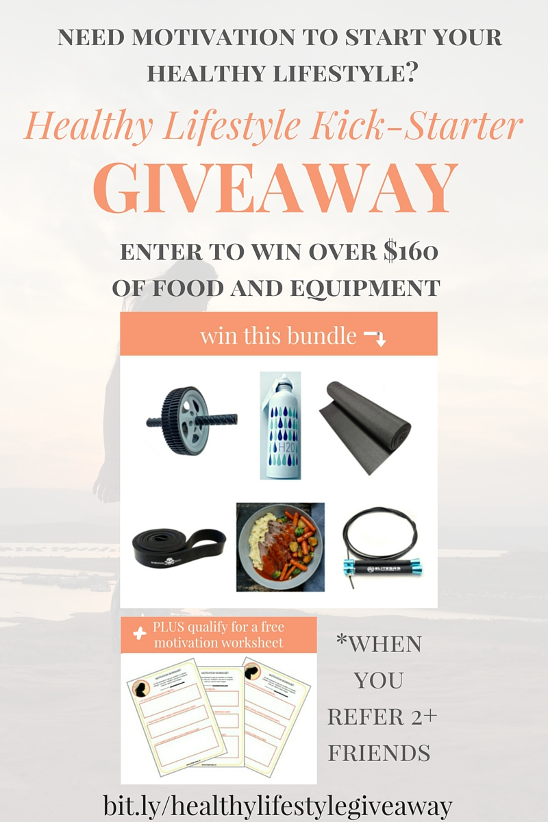 Healthy lifestyle kick-starter giveaway - Enter to win over $160 of food and equipment