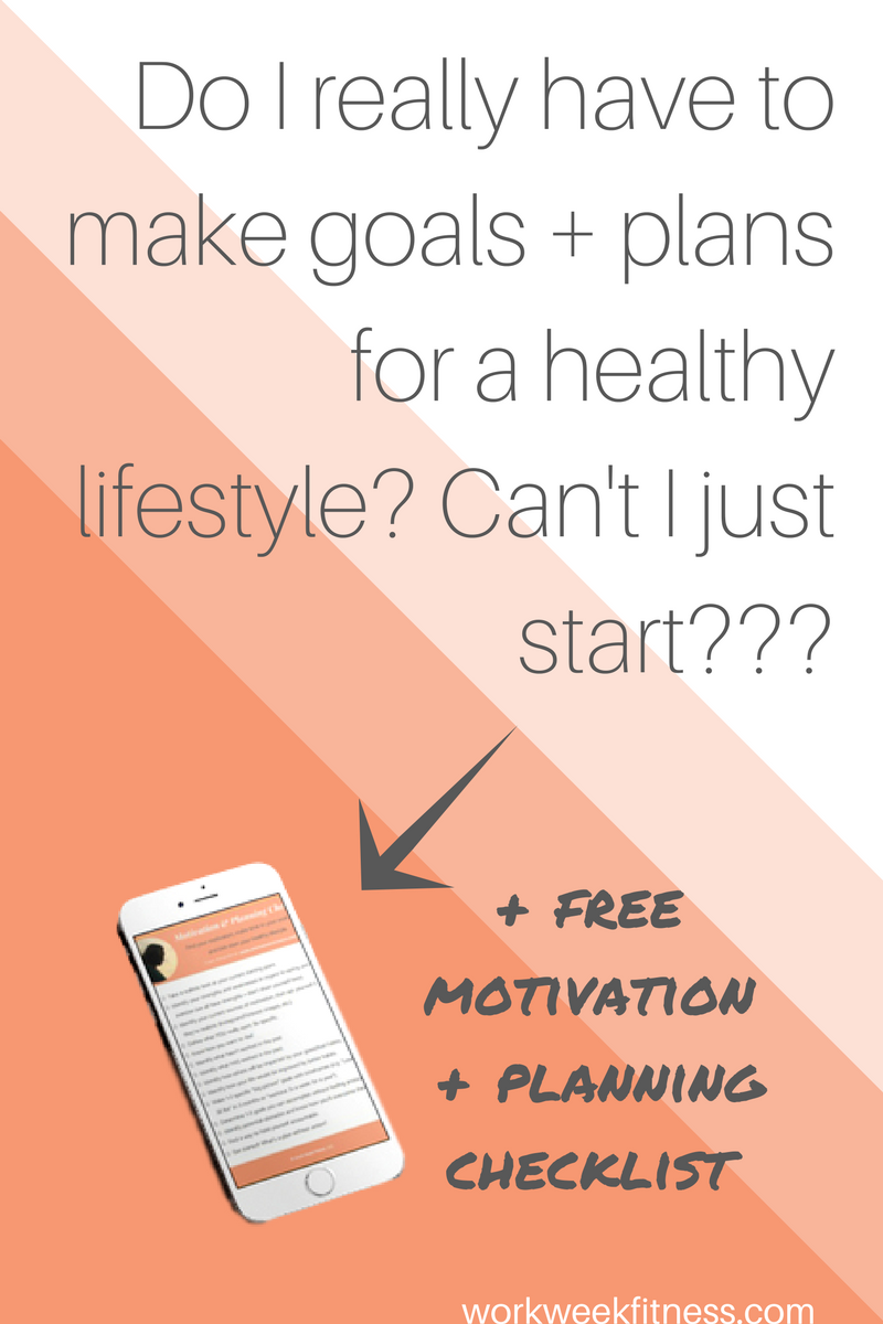 Out of everything you have to do, is setting goals and making plans actually necessary to start making healthy changes? Trust me, it's not a waste of time. It's the only way to be successful and create a sustainable healthy lifestyle. Click to read the whole post and download the free planning checklist.