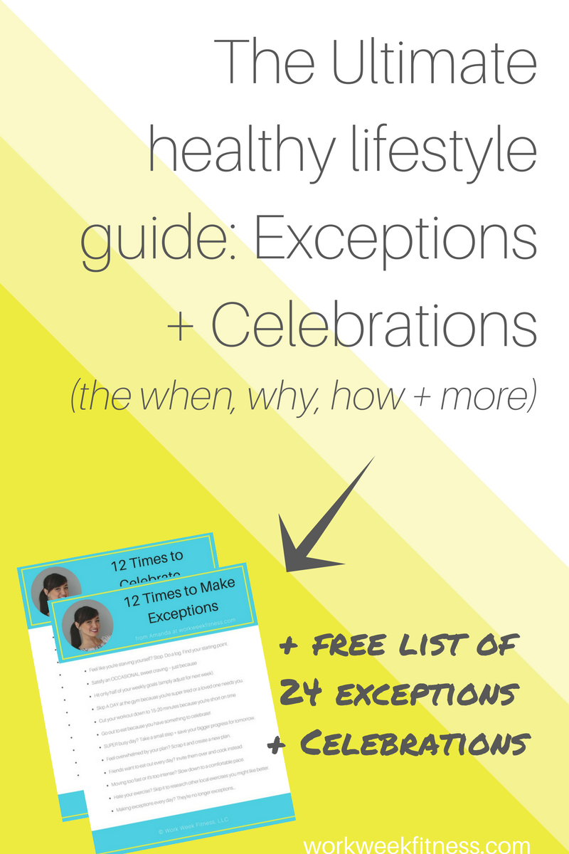 The ultimate healthy lifestyle guide: exceptions + celebrations (the when, why, how + more)