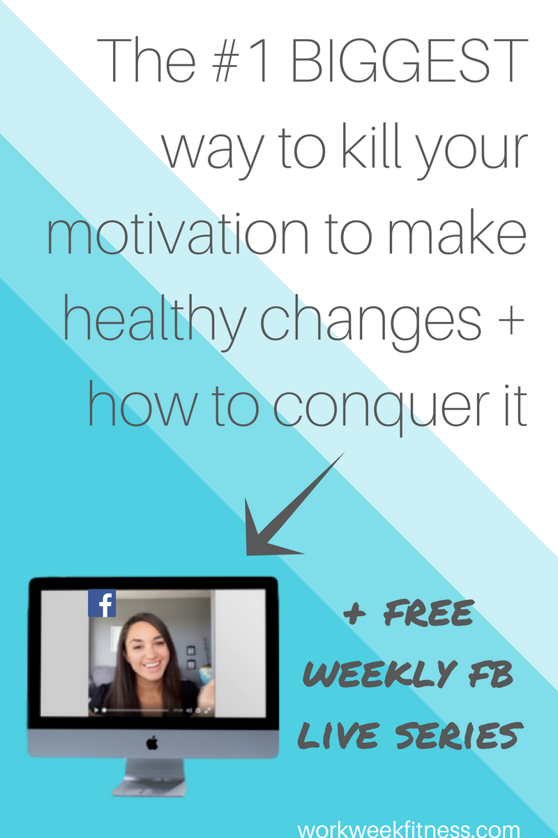 Do you keep going around in circles, unable to stay motivated to make healthy changes? You might be killing your own motivation. Click to read the full post and get access to the free weekly FB series.