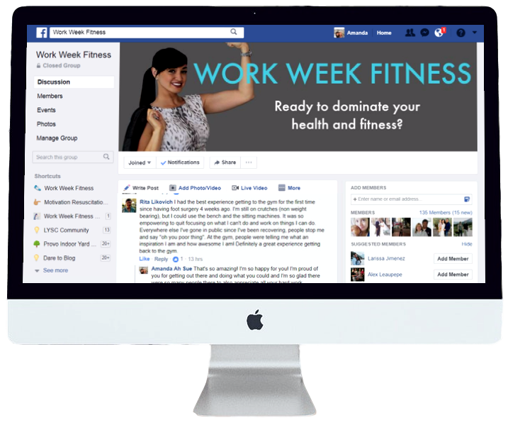 Join the conversation - get support, ask and answer questions and come together with other lady bosses to conquer your health and fitness. Click to join the Facebook group.