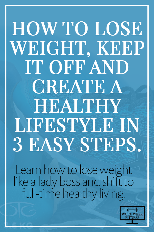 How to lose weight, keep it off and create a healthy lifestyle in 3 easy steps - Learn how to lose weight like a lady boss and shift to full-time healthy living. Click to read.