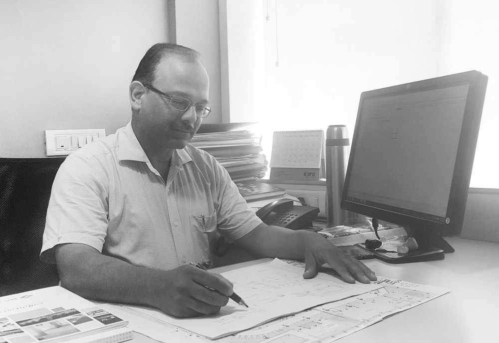 Ashish Kumar Agarwal   Senior Associate  Ashish Kumar Agarwal is a Senior Associate at the firm since September, 2013. He is involved in the design process for various projects of different scales – townships, group housings, office buildings, schools, interior projects at all the different stages of the project. He is overall project co-ordinator for several projects and is involved in their architectural detailing, building services, estimation, tendering, scheduling, project review & monitoring and making site visits. His responsibilities also include leading and mentoring the architectural team.  Mr. Agarwal was in independent practice as an Architect – Project Manager from 2001 to 2010. His experience spans across a wide spectrum – from project conceptualization up to project completion on projects of varying scale and complexity – residences, offices, interiors, automobile showrooms & workshops in which his role included preparation of project reports, conceptual design, presentations, drawings, documents related to tendering, making site visits and overall project co-ordination.  Mr. Agarwal has interest in academics and has earlier been visiting faculty and full time teaching faculty at TVB School of Habitat Studies, New Delhi (affiliated to GGSIP University, New Delhi) between 2005-2009. He has also been visiting faculty at Department of Architecture, School of Planning & Architecture, New Delhi and University School of Architecture & Planning, GGSIP University, New Delhi between 2010-2011.