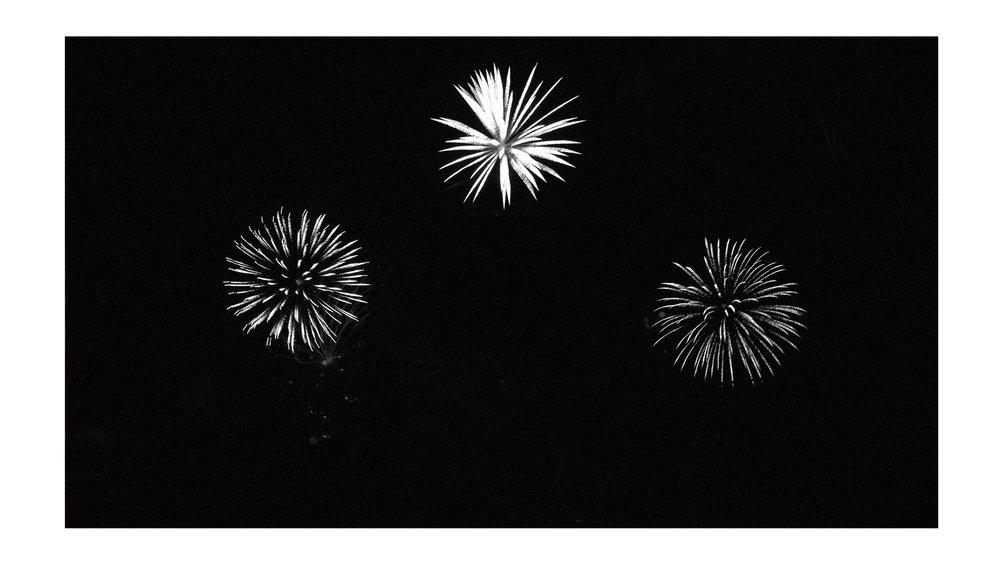 Artsy fartsy  fireworks  shot... moody B&W