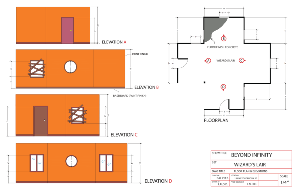 Floorplans  for the build