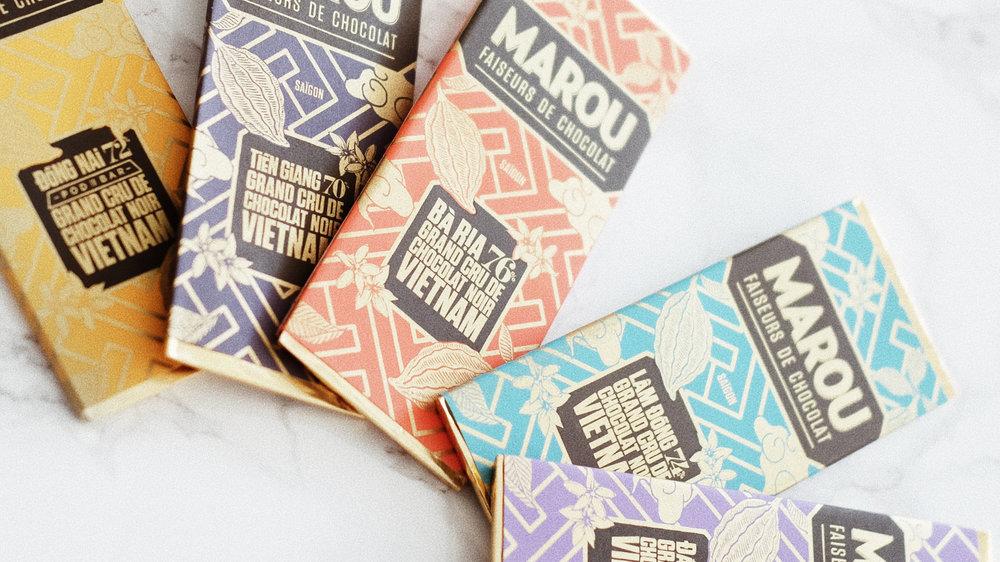 パッケージも素敵なデザインのMAROU(マルゥ)のチョコレート