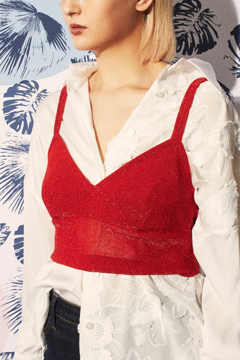 SPARKLE Bustier Red - Go online store→