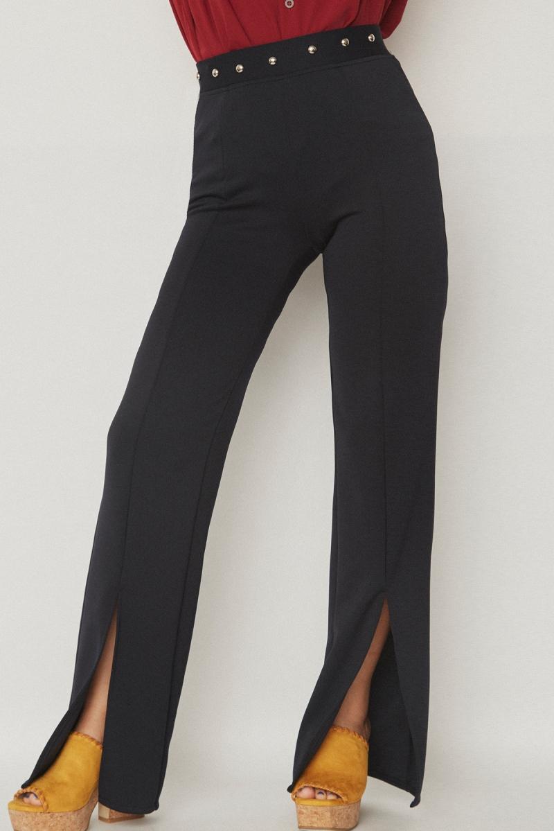 Studs Wide Pants Black - Go online store→