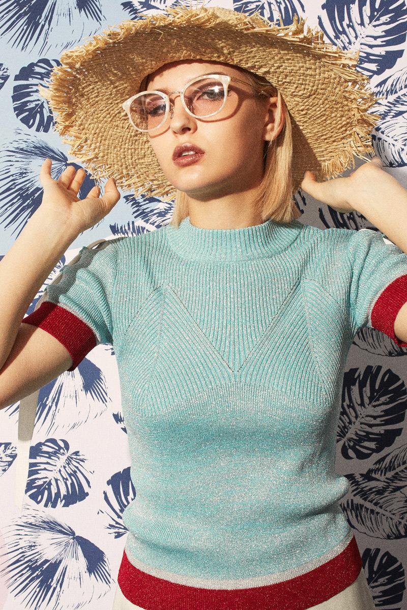 GLITTER Summer Knit Tops - Go online store→