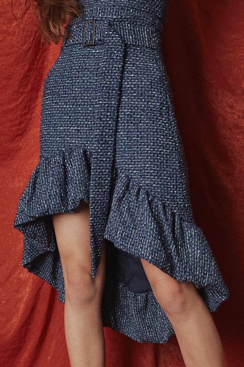 Tweed Skirt Blue - Go online store→
