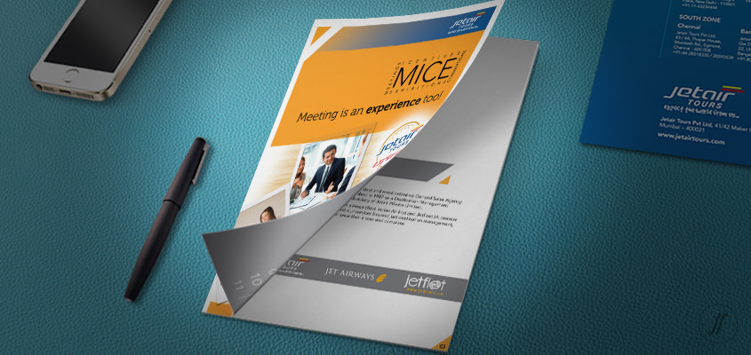 Yellow Fishes Branding Agency Mumbai and Singapore Jetair Tours Brand Communication Design - Managing Brand Identity - MICE Brochure Design