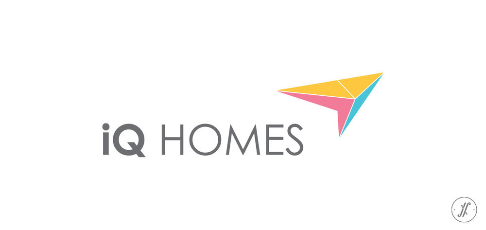 Yellow Fishes Branding Consultancy Mumbai & Singapore Asia Pacific - Branding a Real Estate Company - IQ Homes - Primary Logo