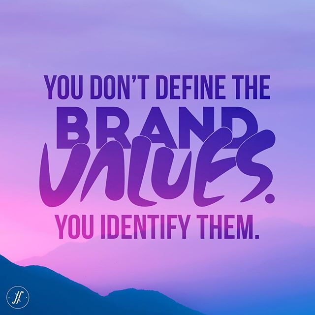 #brandvalues can't be imposed, they come from within the brand.