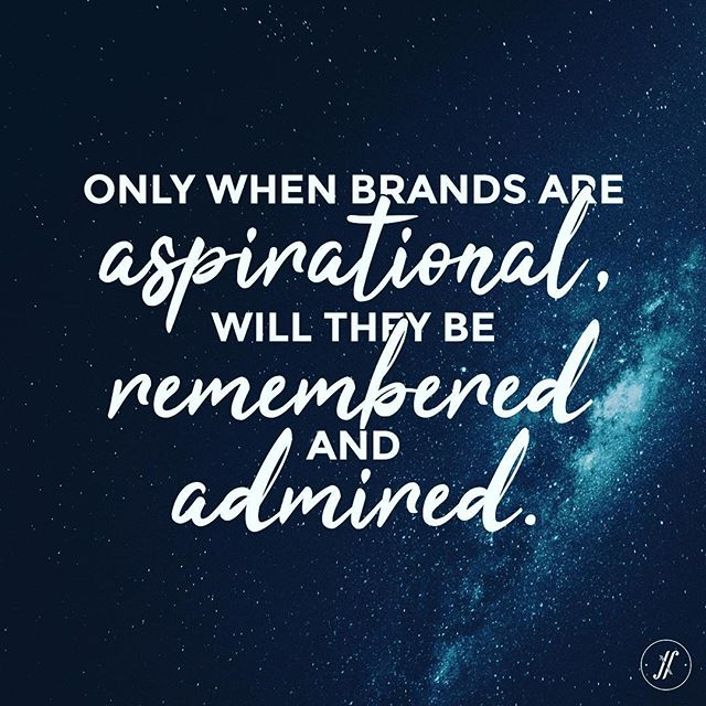 Make the world #aspire for your brand.
