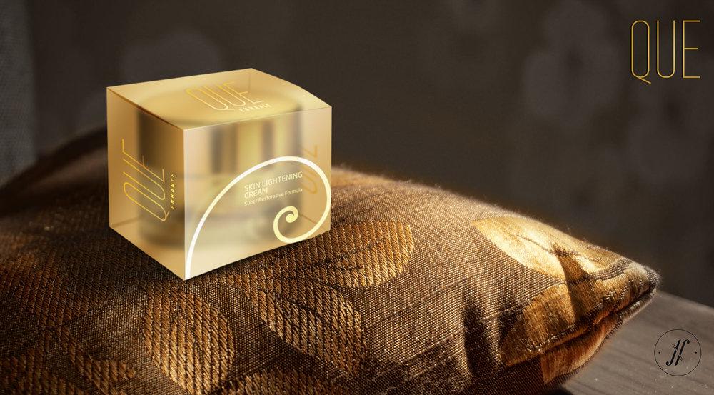 4 - Yellow Fishes Branding Agency Mumbai Que Premium Luxury Cosmetics Branding London British Branding Skin care Golden Spiral Fibonacci Spiral award winning cosmetics design skin lightening cream packaging.jpg