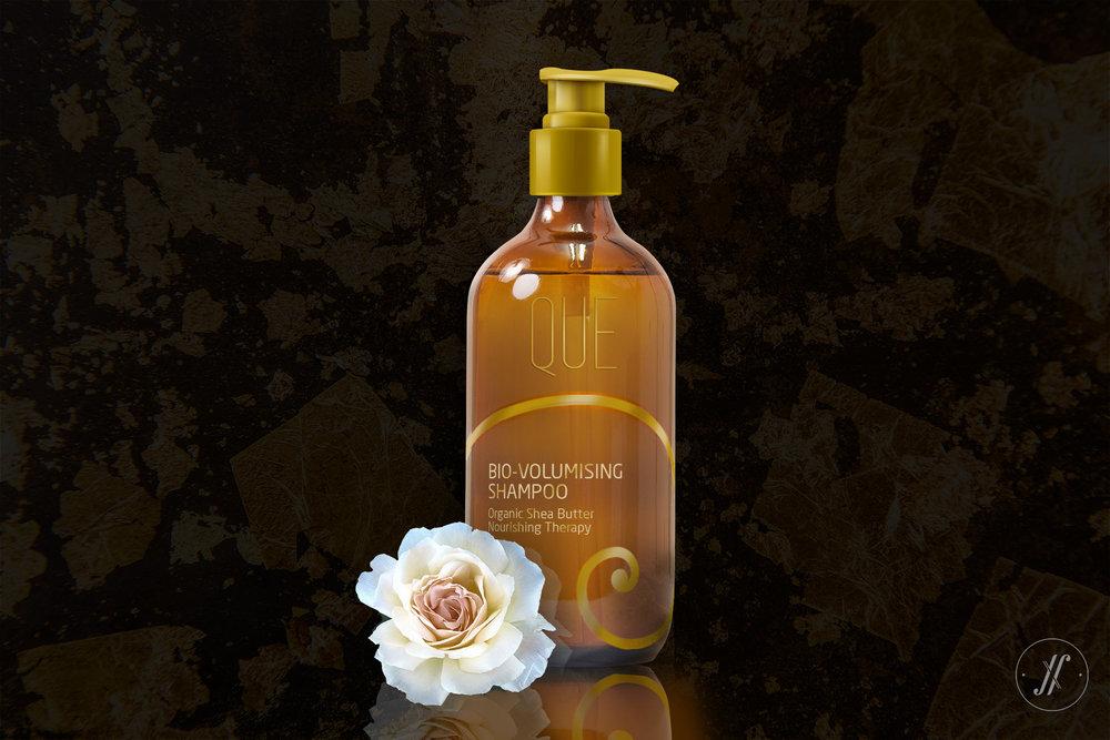 Yellow Fishes Branding Agency Mumbai Que Premium Luxury Cosmetics Branding London British Branding Skin care Golden Spiral Fibonacci Spiral shampoo packaging.jpg