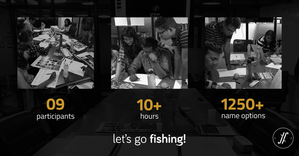 Yellow Fishes Branding Agency Mumbai Best creative branding strategy and brand design agency mumbai Auric-lets go fishing brand naming workshop