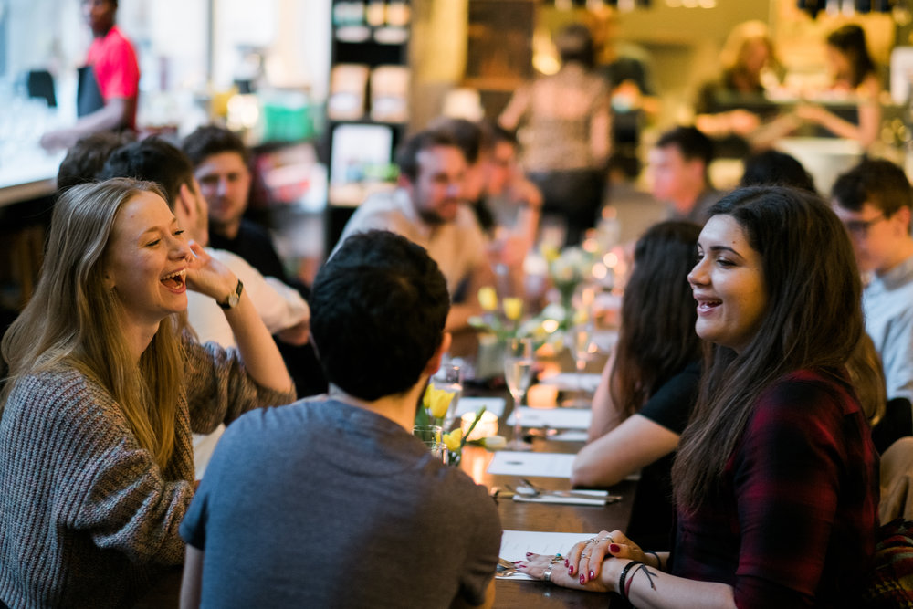 Diners at Fat Macy's supper clubs