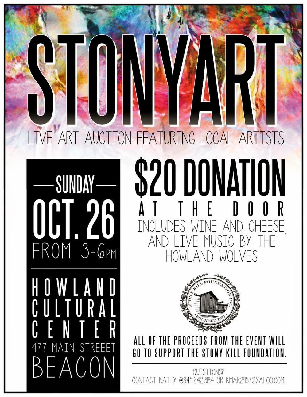 Stony Kill Foundation Flyer for STONYART