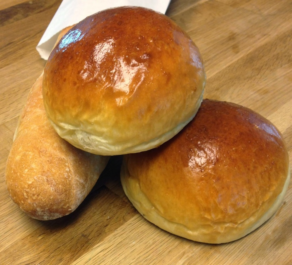 Brioche buns from Beacon Bread Company