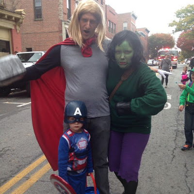 The Avengers in Beacon's Hocus Pocus Kids Parade.