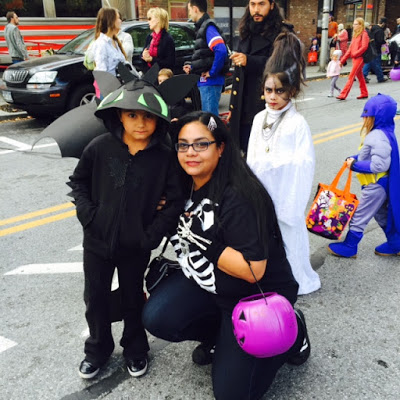 Ms. Jenny and kids in Beacon's Hocus Pocus Kids Parade.