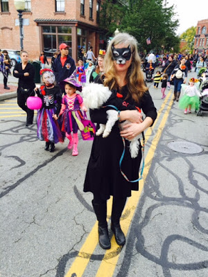 Cat Woman with Dog in Beacon's Hocus Pocus Kids Parade.