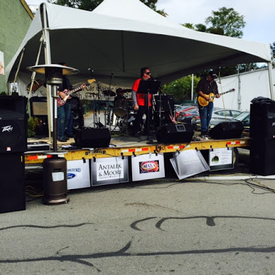 A heavy metal band at Beacon's 4th Annual Car Show