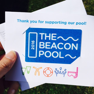 The Beacon Pool Season Pass that arrived by mail. One card per family.