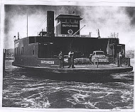 The Dutchess ferry, carrying cars Photo Credit: NewburGh historical Society