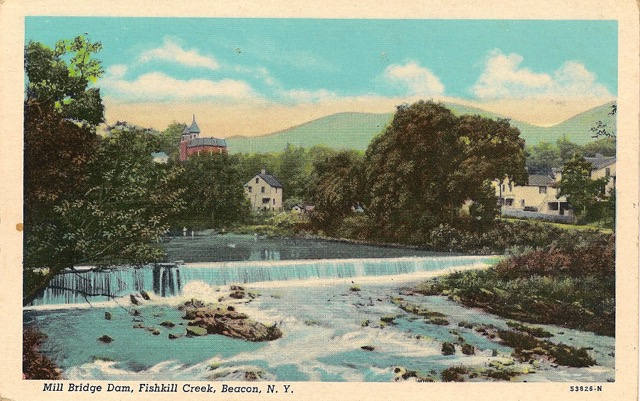 The Mill Bridge Dam, Fishkill Creek in Beacon, NY. Photo Credit: Published with permission from The Beacon Historical Society.
