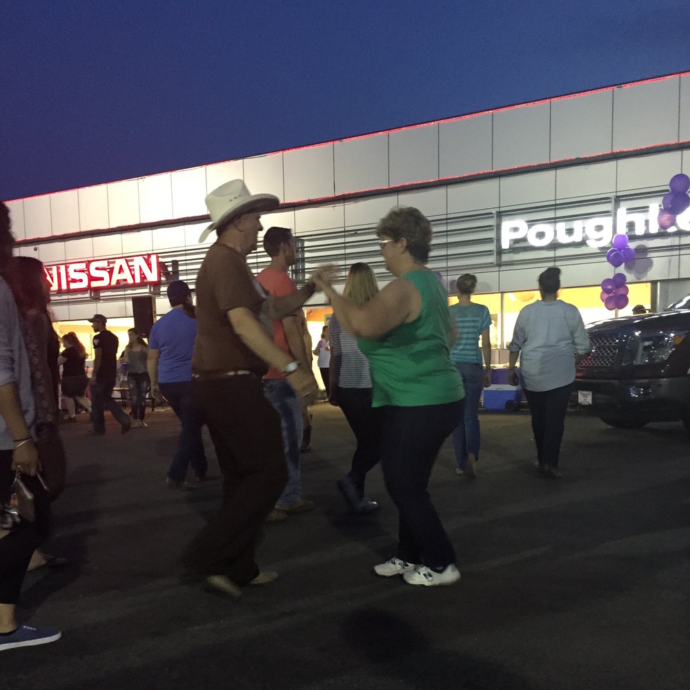 Dancing the night away. Will you be there tonight? Stay tuned to  Poughkeepsie Nissan's Facebook page  and to their  sponsor page here at A Little Beacon Blog  to see when their next event is. Photo Credit: Allie Bopp, A Little Beacon Blog