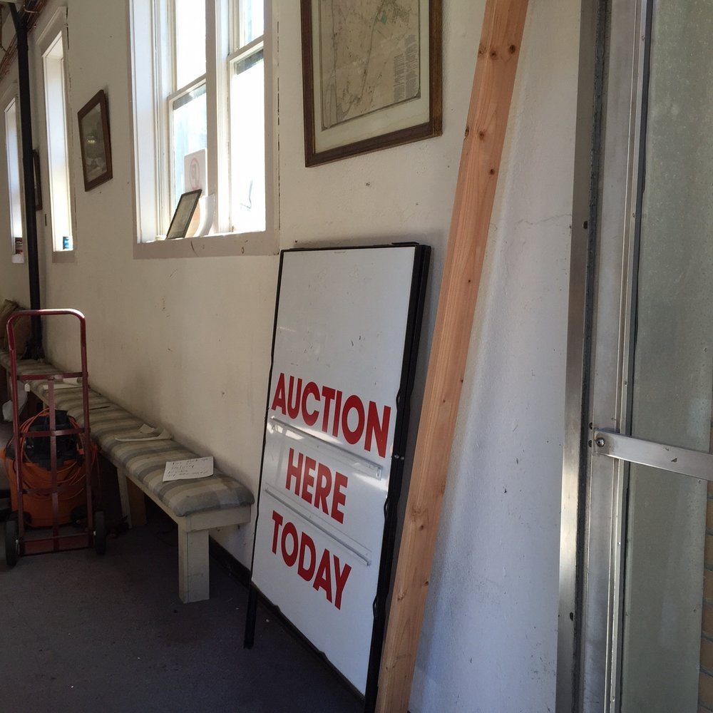 Have you seen this sign out front sometimes? Have you participated in an auction?