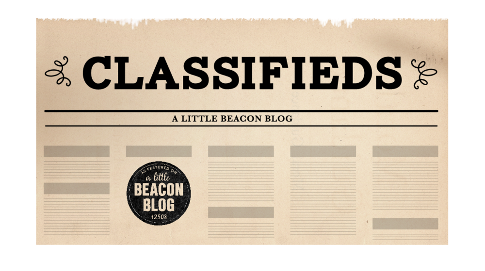 Click here To place a Classified Ad,
