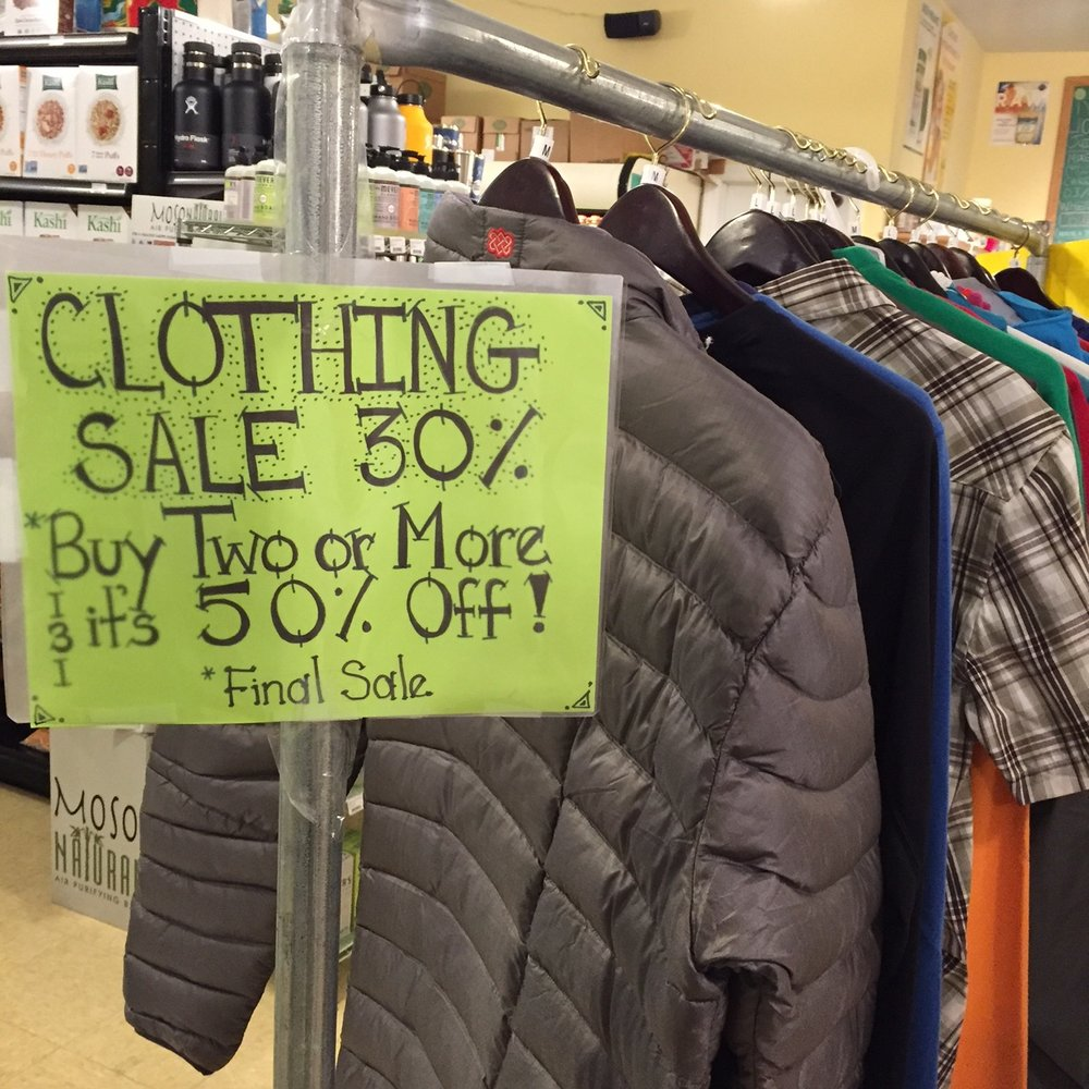 Rare sale Beacon Natural Market on all clothing