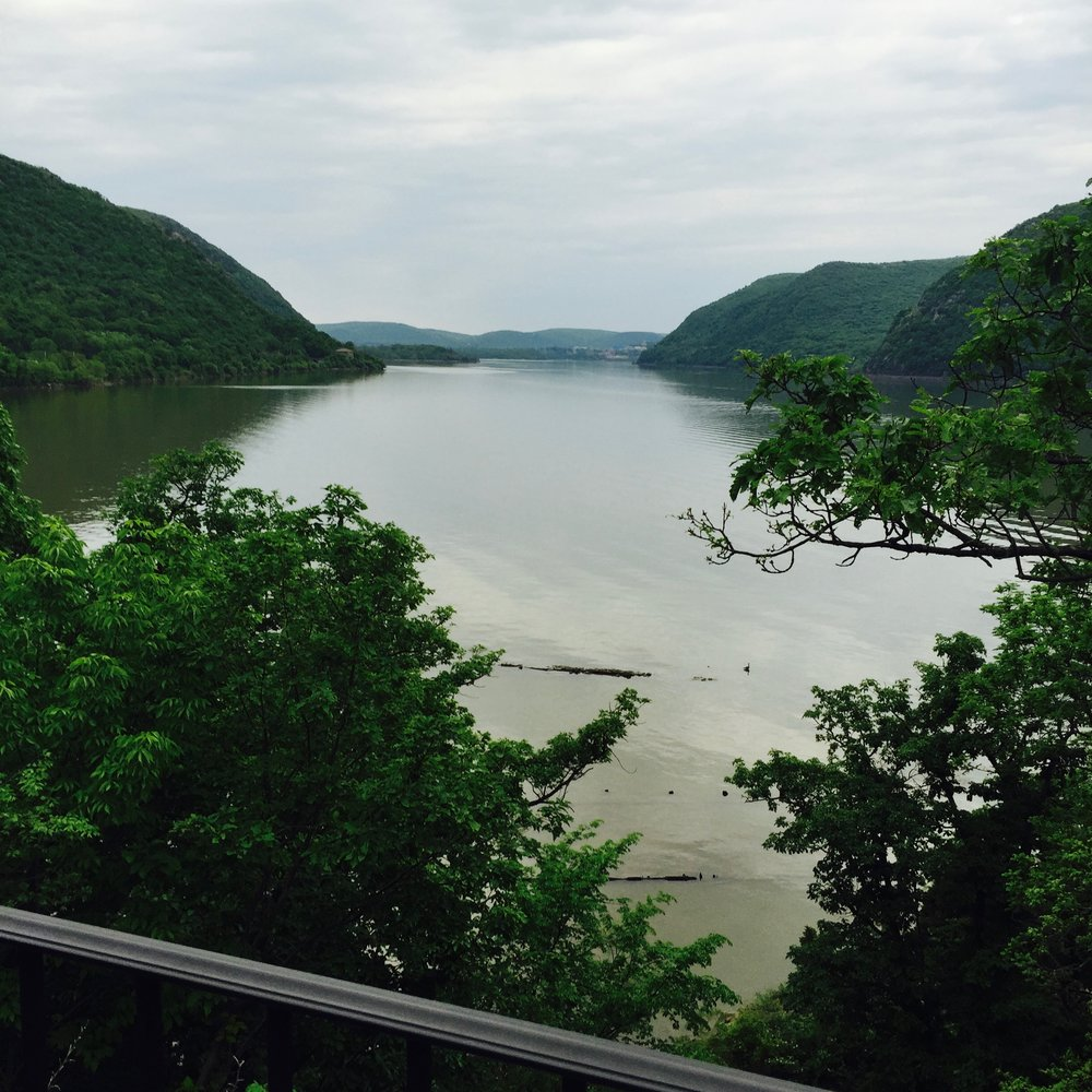 View of the Hudson River from Bannerman Island.