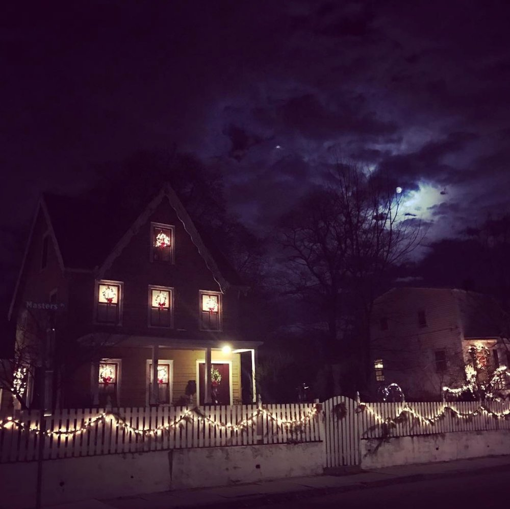 Taken  by graphic designer  Stacie Merrill  during the nights of the spooky moon in December 2016.