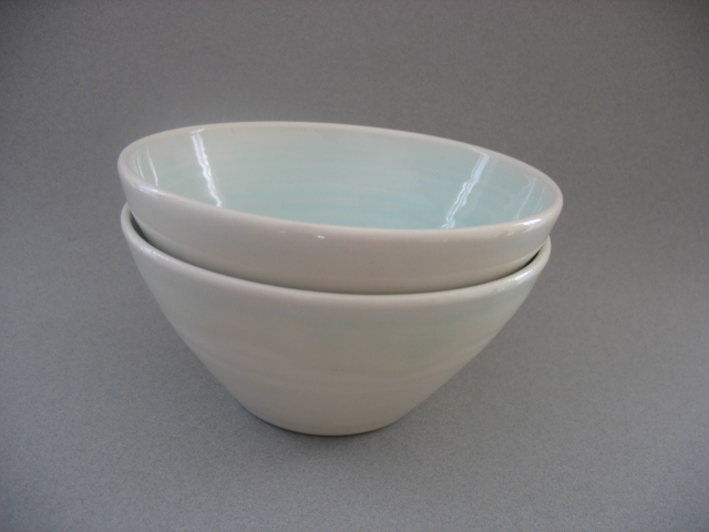 Bowls made by local artisans will be available at the soup fundraiser. You might find a gem like these, made by Virginia Piazza, a potter who participates in the Beacon Farmers' Market.  Photo Credit: Virginia Piazza