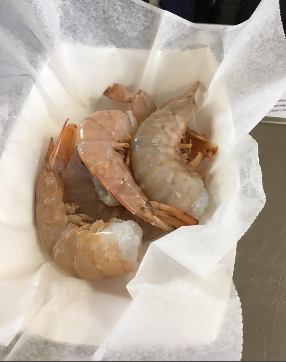Fresh shrimp from Hudson Valley Seafood.  Photo Credit: Beacon Farmers' Market