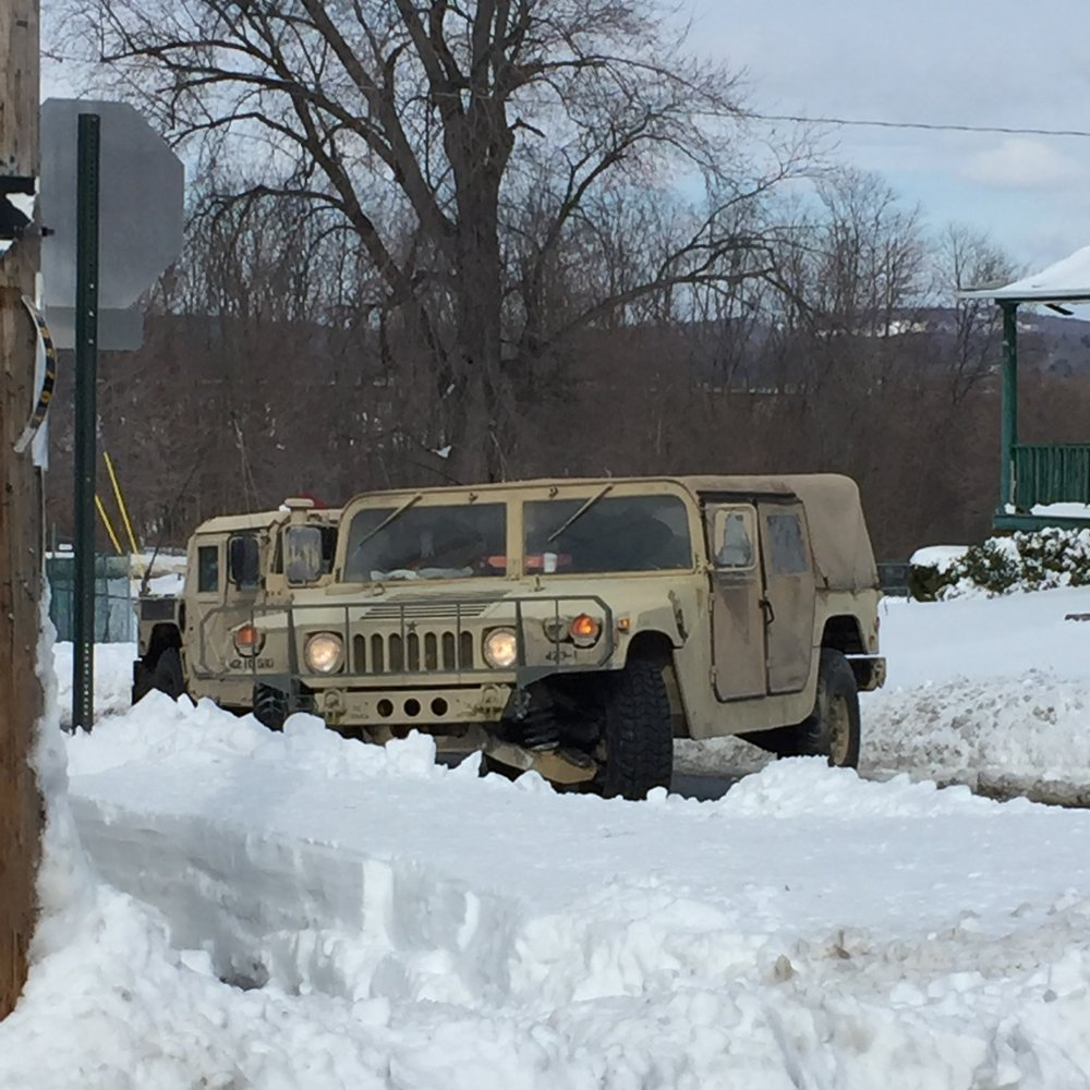 The National Guard is called to Beacon to help remove snow.