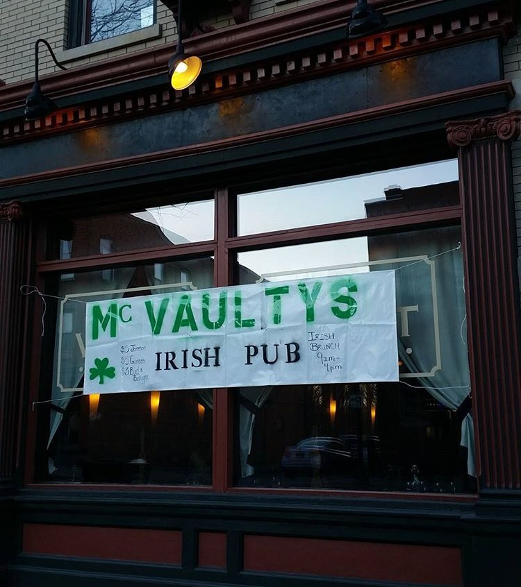 The Vault turned into McVaulty's Irish Pub for two weeks to celebrate St. Patrick's Day.  Photo Credit:  The Vault