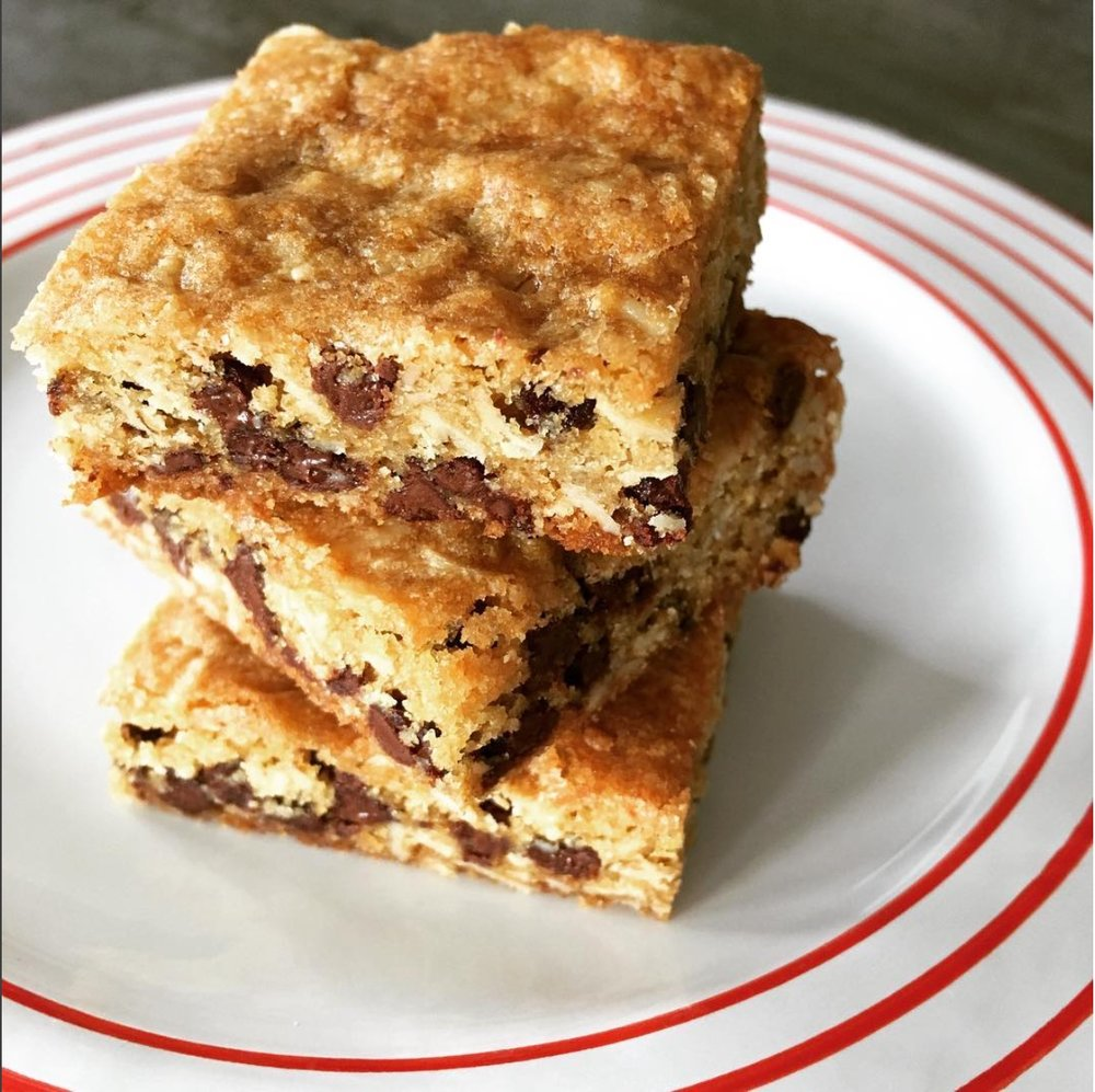 While we haven't confirmed that these particular oatmeal chocolate chip squares - which sometimes have coconut - will be in the bake sale lineup, you can bet that something will be from this baker, Tessa Dean, a #beacondessertmafia contributor.