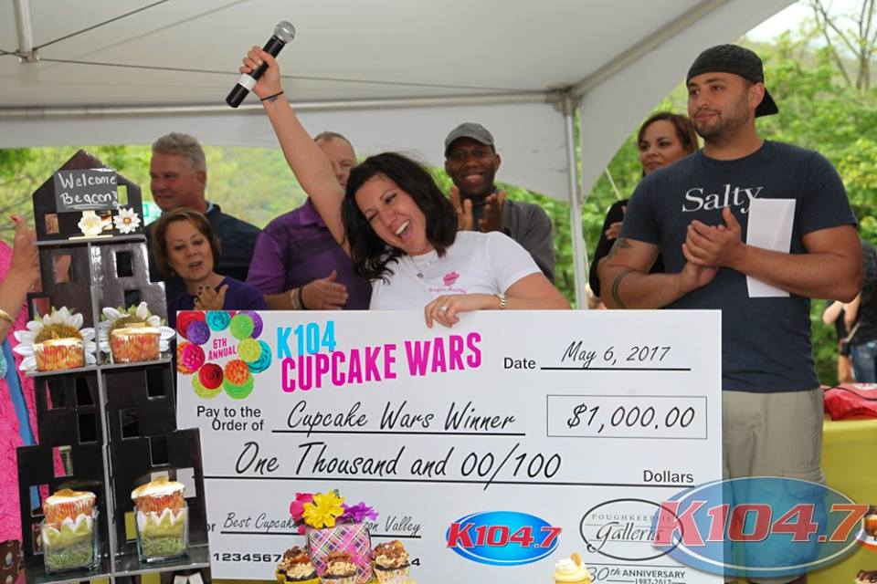 Daniela Haugland won first prize for her Bourbon Bacon Cupcake. She won the $1,000 courtesy of the Poughkeepsie Galleria. Photo Credit: Digital Weddings