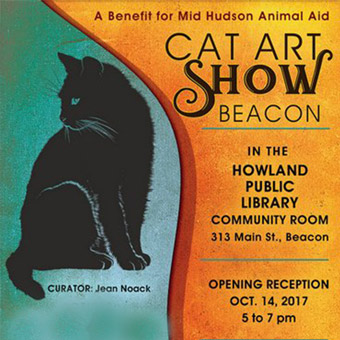 the cat art show at howland library