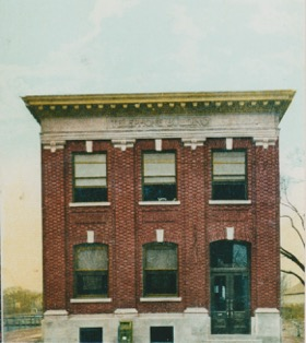 Beacon's Telephone Building, as replicated on a postcard, circa 1910.  Photo Credit: Beacon Historical Society