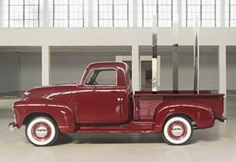 Walter De Maria,  Red Truck: Square, Triangle, Circle , 2011-17. © Estate of Walter De Maria. Photo: Bill Jacobson Studio, New York